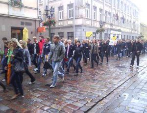 Studentų protesto eisena (c) Kaunoblogas.lt nuotrauka