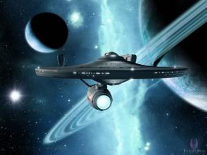 """Star Trek. Ten, šio laivo keliautojai, galėjo akimirksniu pasiekti bet kokią bet kada sukurtą žmogaus informaciją (idėja nucopyleftinta iš Džiugo Paršonio prezentacijos, darytos """"Atviros Informacijos Kaina"""" konferencijos metu)"""