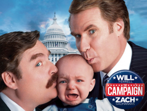 "kino filmo ""The campaign"" plakatas"