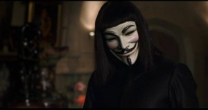 "Kino filmo ""V for Vendetta"" kadras"