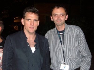 Marijus Kulvietis (dešinėje) su JAV aktoriumi Mattu Dillonu
