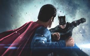 "Filmo ""Batman v Superman: Dawn of Justice"" plakato fragmentas"