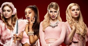 "Televizijos serialo ""Scream queens"" plakato fragmentas"