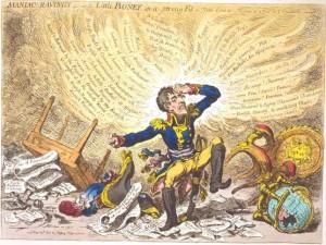 Napoleonas / James Gilray karikatūra