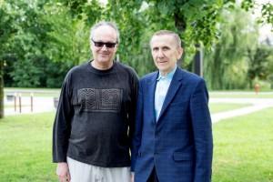 Fabio Savianas ir Jonas Navikas / Organizatorių archyvo nuotr.