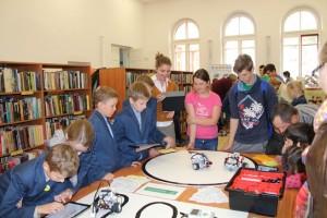 Kauno rajono savivaldybės viešosios bibliotekos Lego robotų dirbtuvės / Organizatorių archyvo nuotr.