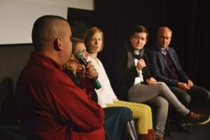 Diskusijos dalyviai (iš kairės): Š. Germanas, V. Antanavičiūtė-Meškauskienė, E. Latėnaitė, M. Gailius, prof. A. Germanavičius. N. Gorbunovos nuotr.