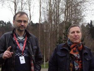 Marijus Kulvietis (kairėje) ir Andrejus Plachovas © Roko Kulviečio nuotr.