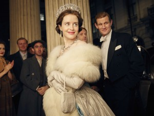 "Netflix serialo ""The Crown"" kadras"