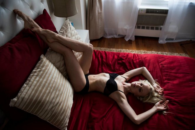 NEW YORK, NY - JUNE 23: Dancer Elina Miettinen takes part in a photo shoot of dancers in their bedrooms for the Arts section of the Huffington Post in New York on Thursday June 23, 2016. (Photo by Damon Dahlen, Huffington Post) *** Local Caption ***