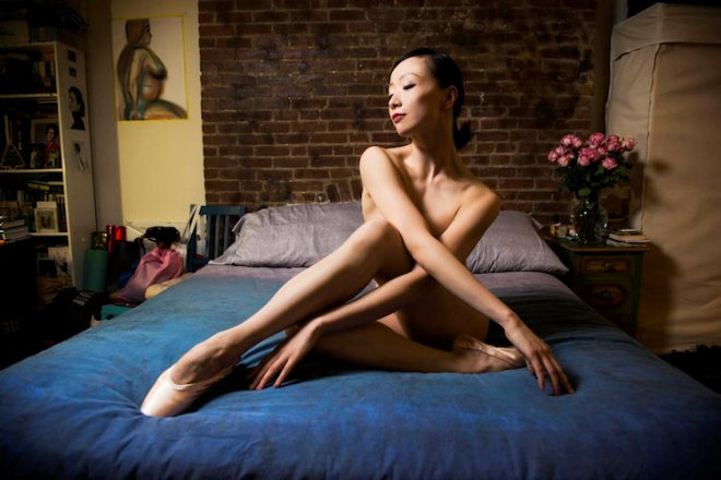 NEW YORK, NY - APRIL 12: Ballet dancer Zhongjing Fang poses for portraits in her bedroom in New York on Tuesday April 12, 2016. (Photo by Damon Dahlen, Huffington Post) *** Local Caption ***