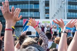 Europos jaunimo mitingas prie Europos parlamento Strasbure (EP nuotr.)
