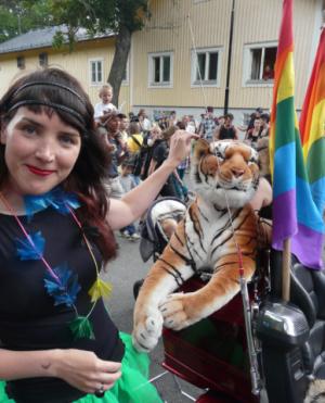 Gabrielė Labanauskaitė-Diena Stokholmo eitynėse (asmeninio archyvo nuotrauka).