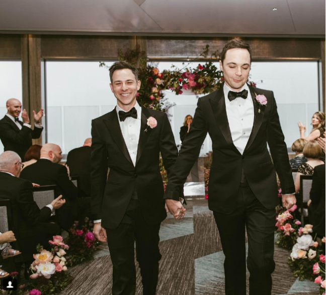 Jim Parsons wedding