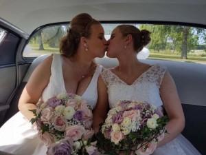 """""""Facebook"""" nuotr. / Viktorija Budrytė Švedijoje susituokė su savo širdies drauge švede Marina Melody Winnersjo."""