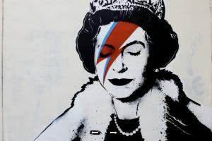 Banksy gatvės piešinys Didžiojoje Britanijoje