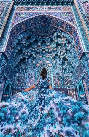 Mečetė  Sankt Peterburge, Rusija. Modelis: Aygul