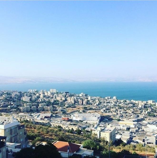 Kineret regiono panorama Izraelis