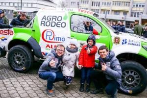 Agrorodeo Dakaro ekipažas Joniškyje / Organizatorių archyvo nuotr.