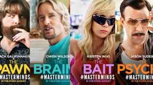 """Filmo """"Masterminds"""" plakatas"""