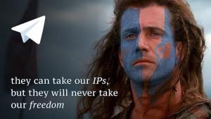 """""""Jie gali atimti mūsų IP adresus, bet jie niekada neatims mūsų laisvės."""""""