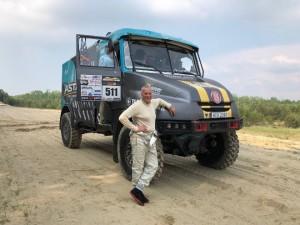 Aurelijus Petraitis su Tatra sunkvežimiu  / Organizatorių archyvo nuotr.