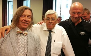 Nuotraukoje iš kairės į dešinę: Viceprezidentas LPBL Dmitrij Melnikov, EBU Prezidentas Bob Logist, LPBL Prezidentas Dmitri Baranovskij. / Dariaus Skirpos nuotr.