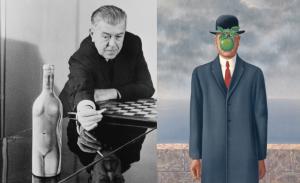 Rene Magrito ir jo darbas Son of Man, 1964.
