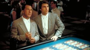 "Dustin Hoffman ir Tom Cruise filme ""Lietaus žmogus"""