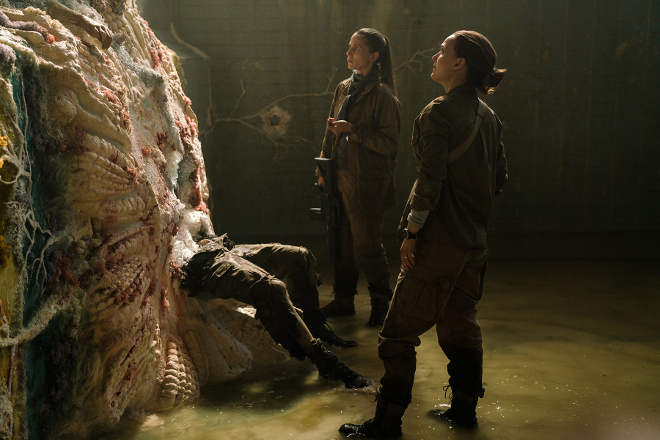 Natalie Portman plays Lena and Tuva Novotny plays Cass Sheppard in Annihilation from Paramount Pictures and Skydance.