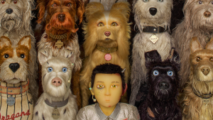 "Animacinio filmo ""Isle of dogs"" kadras"
