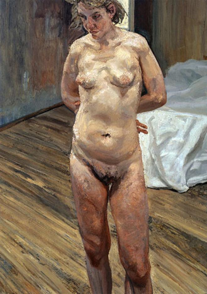Lucian Freud. Fine Art. Naked Portrait Standing, 1999 - 2000.