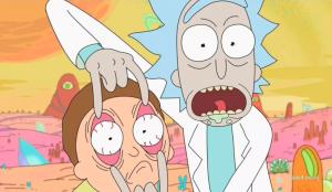 "Serialo ""Rick and Morty"" kadras"