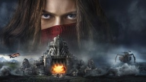 "Filmo ""Mortal Engines"" plakato fragmentas"