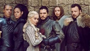 """Serialo """"Game of Thrones"""" plakato fragmentas"""