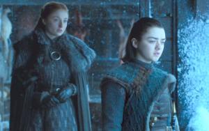Sofi Turner (kairėje)  ir Meisė Viljams / HBO nuotr.