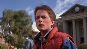 "Kino filmo ""Back to the Future"" 1985 kadras"