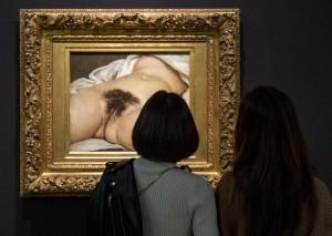 """Gustave Courbet """"L'Origine du monde"""" / Musée d'Orsay Twiter archyvo nuotr."""