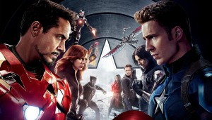 "Kino filmo ""Captain America Civil War"" kadras"