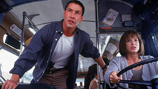 Speed, 1994 Keanu reeves Sandra Bullock