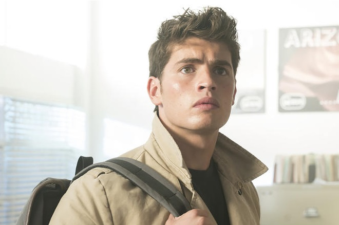 "MARVEL'S RUNAWAYS -- ""Hostile"" - Episode 110 - The Runaways face off with their parents. But when Jonah arrives unexpectedly with a new game plan, the kids realize they are in over their heads. Chase Stein (Gregg Sulkin), shown. (Photo by: Greg Lewis/Hulu)"